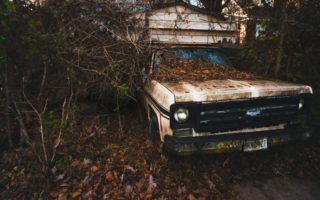 junk car old fashioned